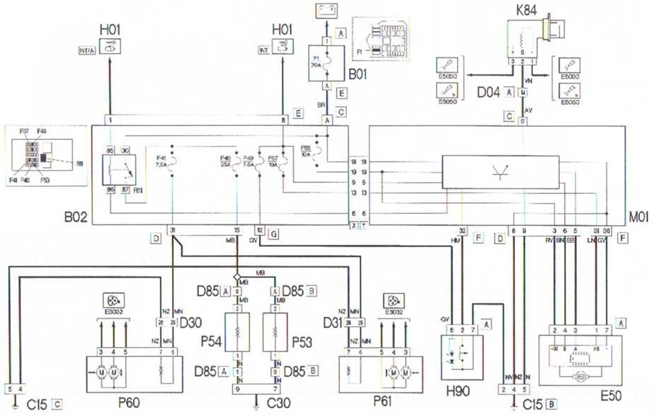 электросхема фиат f449