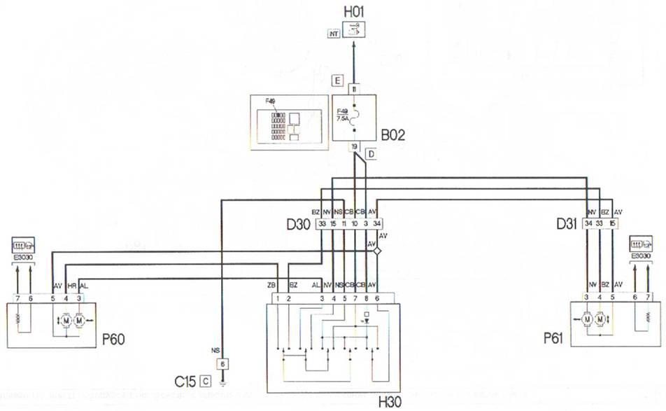 Электросхема Fiat Doblo